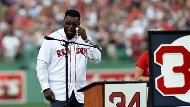 Former Red Sox designated hitter David Ortiz