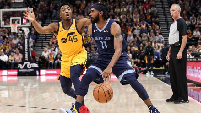 Utah Jazz guards Donovan Mitchell and Mike Conley