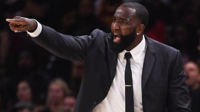 Retired NBA center Kendrick Perkins