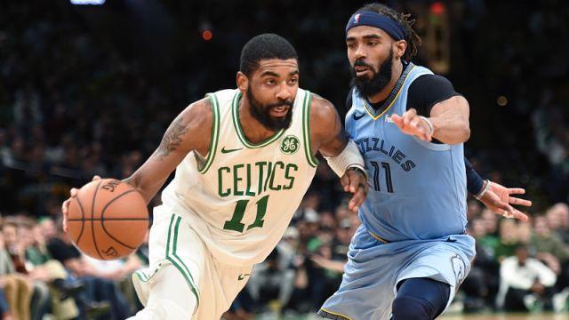 Boston Celtics guard Kyrie Irving and Memphis Grizzlies guard Mike Conley