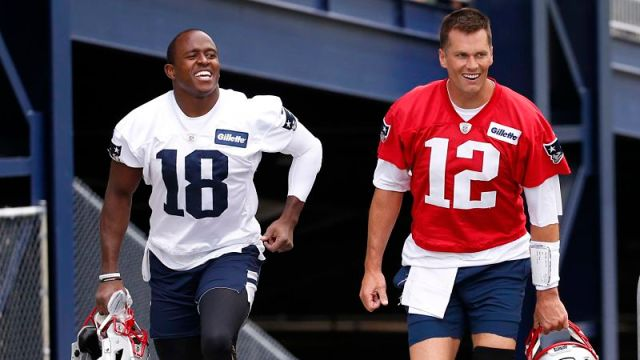 New England Patriots wide receiver Matthew Slater and quarterback Tom Brady