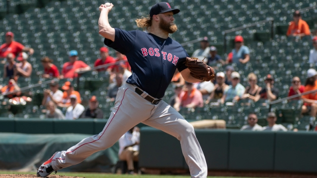 Red Sox pitcher Andrew Cashner