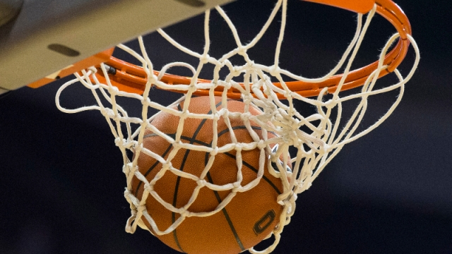 A general view of the ball in the basket