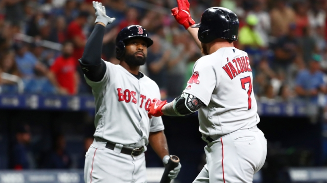 Boston Red Sox's Jackie Bradley Jr. And Christian Vazquez
