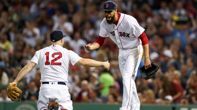 Boston Red Sox's Brock Holt And David Price