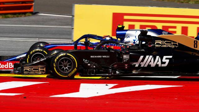 F1 Haas No. 8 Romain Grosjean