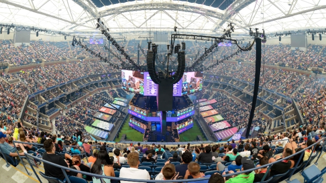 A general view of Athur Ashe Stadium during the Fortnite World Cup Finals