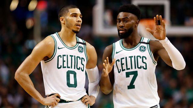 Boston Celtics Jayson Tatum, Jaylen Brown