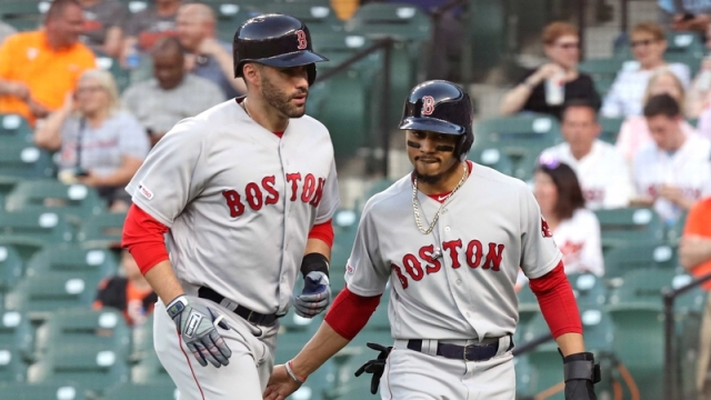 Boston Red Sox's J.D. Martinez And Mookie Betts