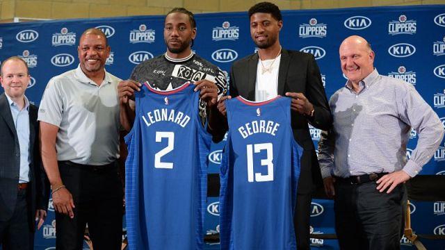 Los Angeles Clippers forwards Kawhi Leonard and Paul George