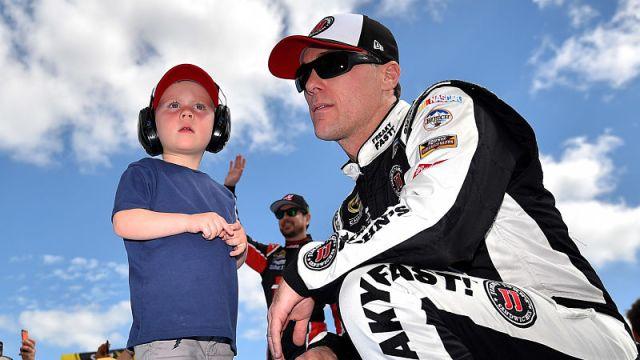 Kevin Harvick and son Keelan