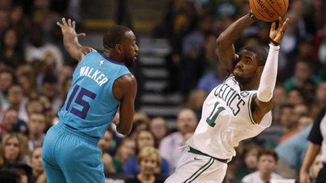 Hornets guard Kemba Walker, Celtics guardKyrie Irving
