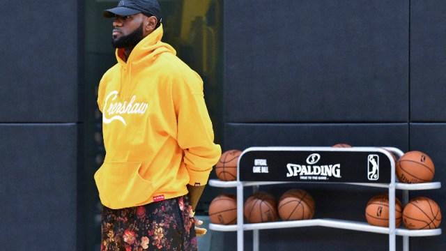 Los Angeles Laker forward LeBron James