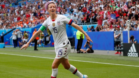 United States forward Megan Rapinoe