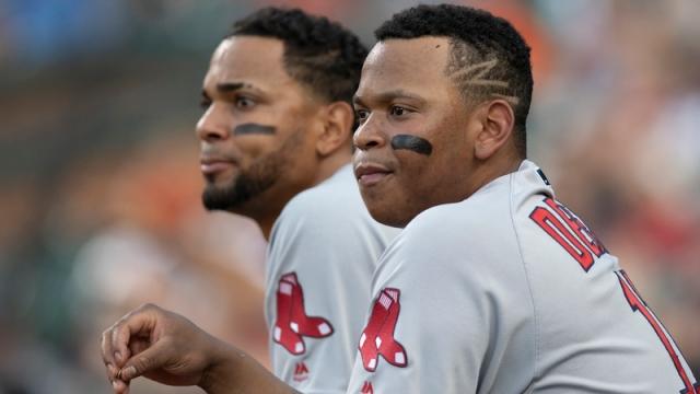 Boston Red Sox Infielders Rafael Devers And Xander Bogaerts