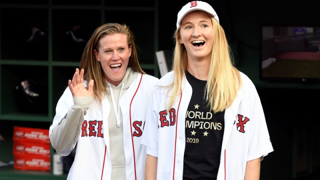 USWNT Players Alyssa Naeher and Samantha Mewis
