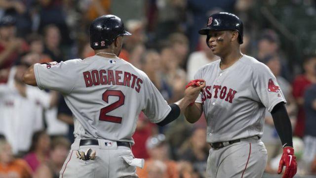 Boston Red Sox's Xander Bogaerts, Rafael Devers