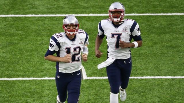 Patriots QB Tom Brady, Jacoby Brissett