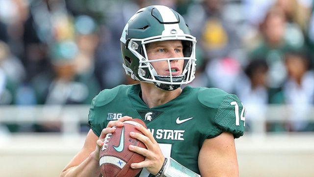 Michigan State quarterback Brian Lewerke