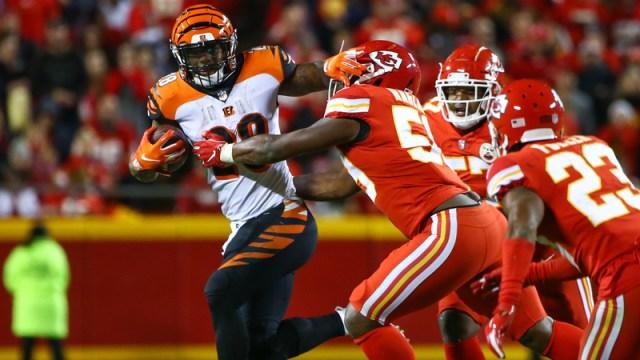 Cincinnati Bengals running back Joe Mixon and Kansas City Chiefs linebacker Reggie Ragland