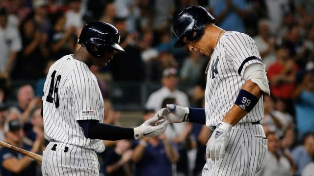 New York Yankees' Didi Gregious And Aaron Judge
