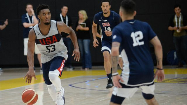 USA guard Donovan Mitchell