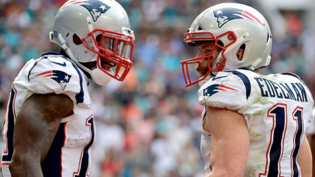 Patriots wide receivers Josh Gordon, Julian Edelman