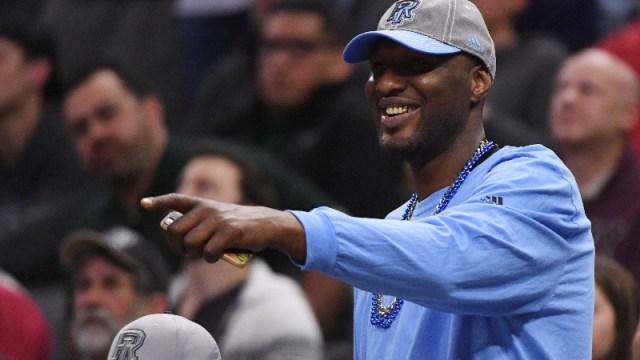 Former NBA player Lamar Odom