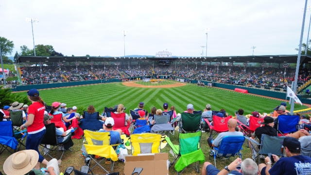 A general view of the stadium during the Little League World Series