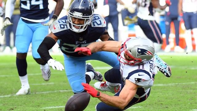 Titans cornerback Logan Ryan, Patriots wide receiver Julian Edelman