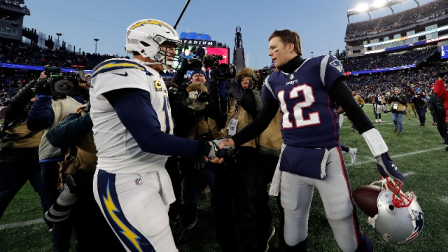 Indianapolis Colts quarterback Philip Rivers and Tampa Bay Buccaneers quarterback Tom Brady