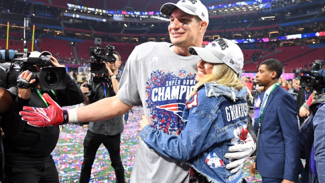 Former New England Patriots tight end Rob Gronkowski and girlfriend Camille Kostek
