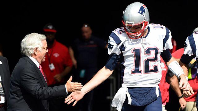 New England Patriots owner Robert Kraft and quarterback Tom Brady