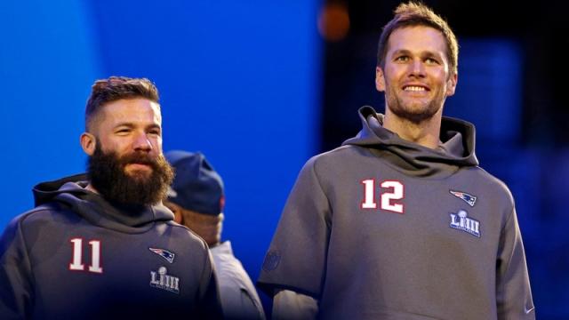 New England Patriots Tom Brady and Julian Edelman