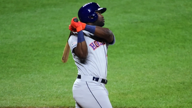 Houston Astros Designated Hitter Yordan Alvarez