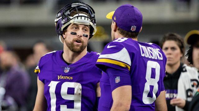 Minnesota Vikings wide receiver Adam Thielen and quarterback Kirk Cousins