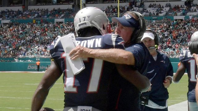 Antonio Brown, Bill Belichick