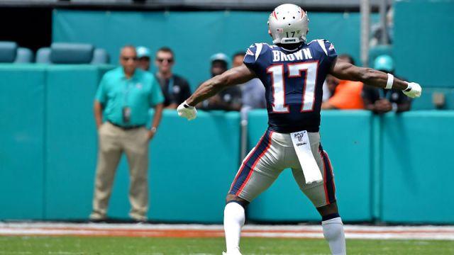 New England Patriots wide receiver Antonio Brown