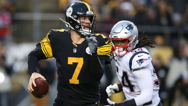 Pittsburgh Steelers quarterback Ben Roethlisberger and New England Patriots linebacker Dont'a Hightower