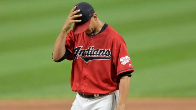 Cleveland Indians relief pitcher Carlos Carrasco