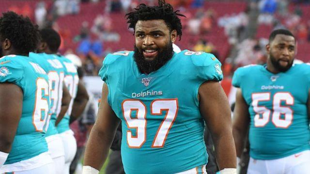 Miami Dolphins defensive linemen Christian Wilkins
