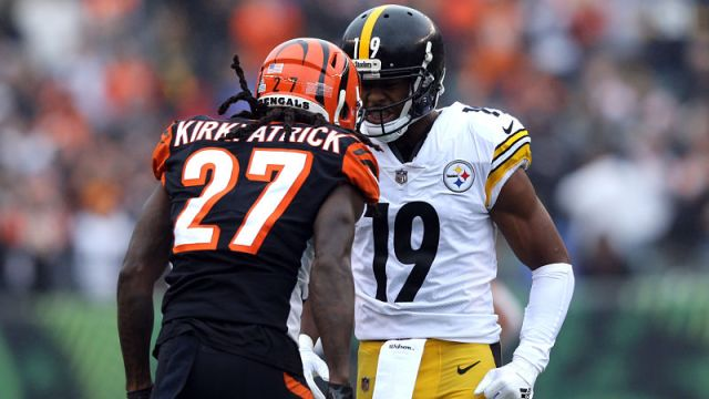 Cincinnati Bengals cornerback Dre Kirkpatrick and Pittsburgh Steelers wide receiver JuJu Smith-Schuster