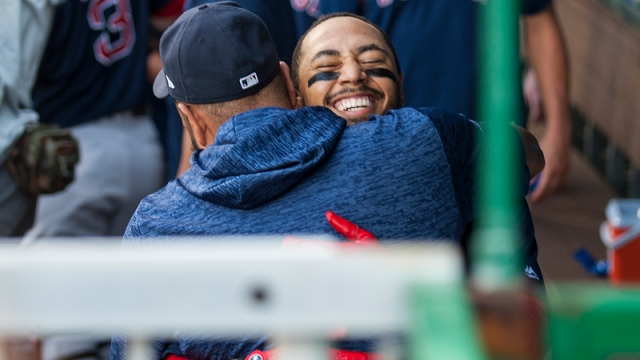 Red Sox pitcher Eduardo Rodriguez, Red Sox outfielder Mookie Betts