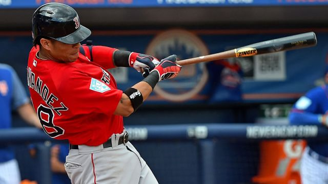 Boston Red Sox outfielder Gorkys Hernández
