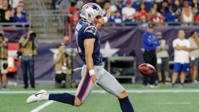 New England Patriots punter Jake Bailey