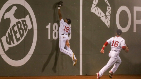 Boston Red Sox Outfielders Jackie Bradley Jr. And Andrew Benintendi