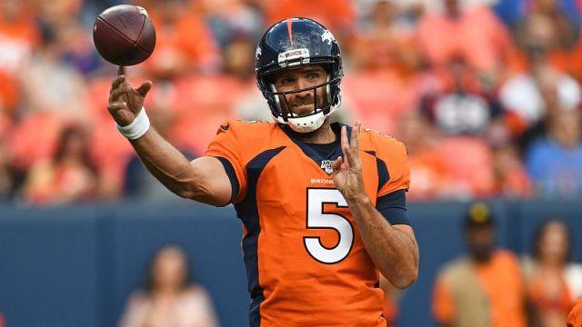 Denver Broncos quarterback Joe Flacco