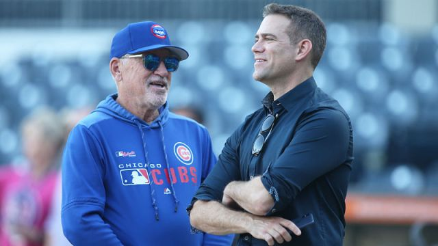 Former Cubs Manager Joe Maddon, Cubs president Theo Esptein