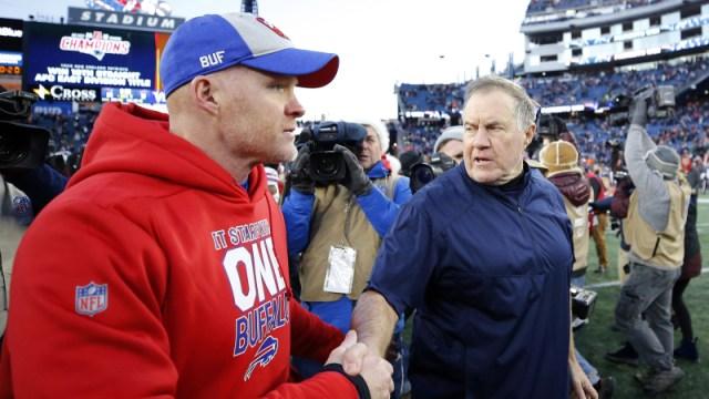 Buffalo Bills coach Sean McDermott and New England Patriots coachBill Belichick