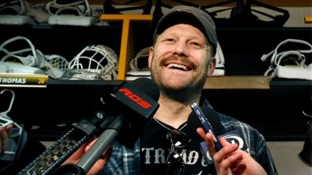 Retired NHL goaltender Tim Thomas